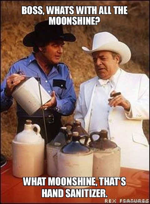 boss hogg roscoe moonshine hand sanitizer