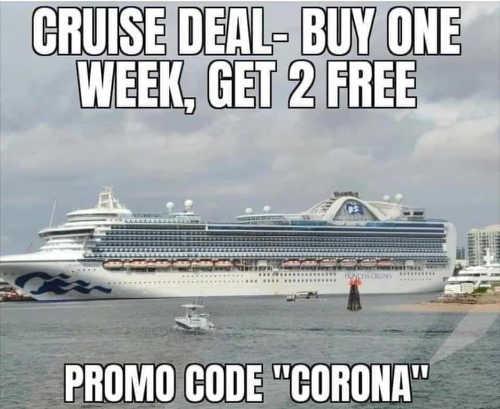 cruise deal buy one week get 2 free promo code corona