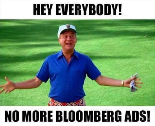 dangerfield hey everybody no more bloomberg ads