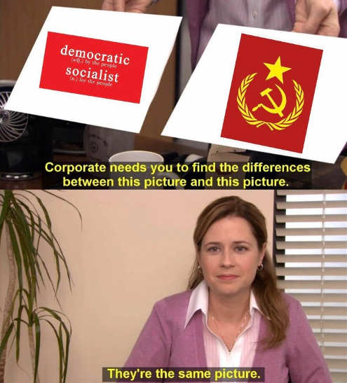 office democratic socialist communist theyre the same picture