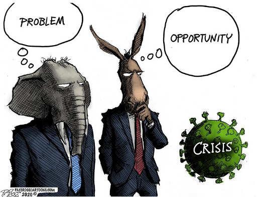 republicans corona crisis problem democrats opportunity