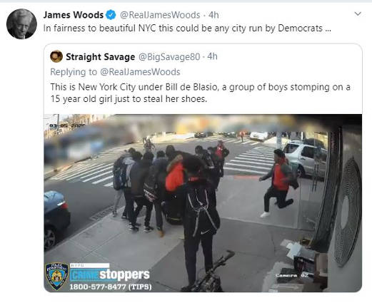 tweet james wood nyc group of boys stomping on 15 year old girl