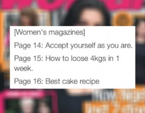 womens magazines accept yourself lose weight best cake recipe