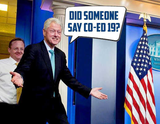 bill clinton did someone say co ed 19