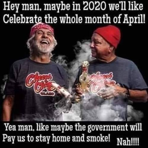 cheech chong maybe april 2020 government pay us stay home and smoke