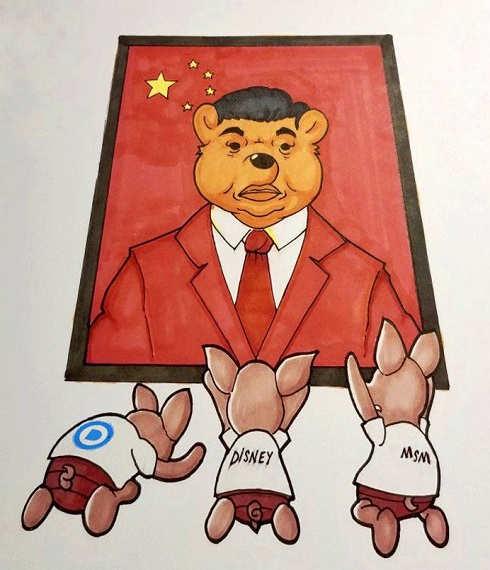 democrats disney mainstream media bowing before china dear leader