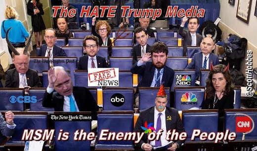 hate trump media enemy of the people abc cnn cbs nbc msnbc nyt post politico newsweek