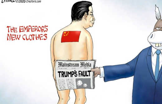 mainstream media covering china emperors new clothes trumps fault