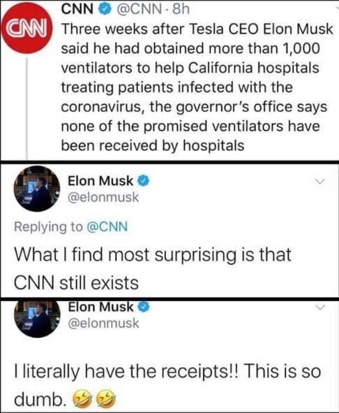 tweets tesla elon musk cnn surprising still exists
