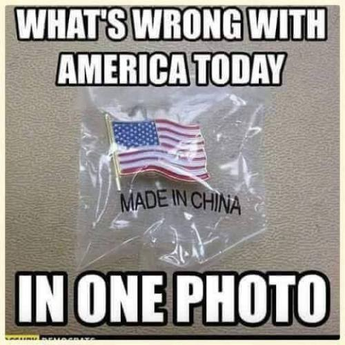 whats wrong with america today in one photo flag pin made in china
