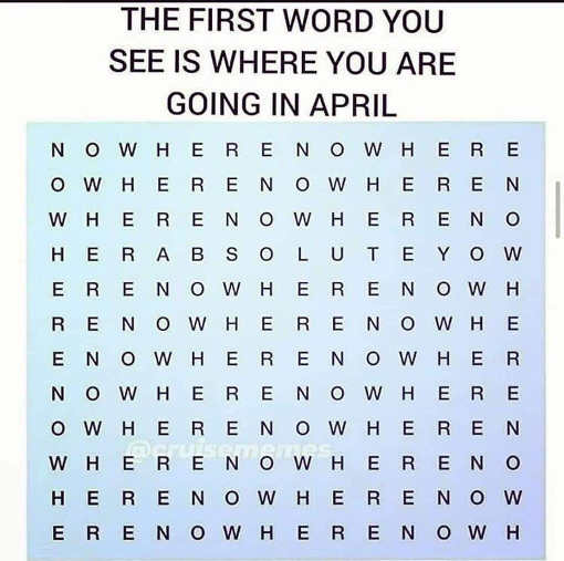 word find first is where going in april nowhere