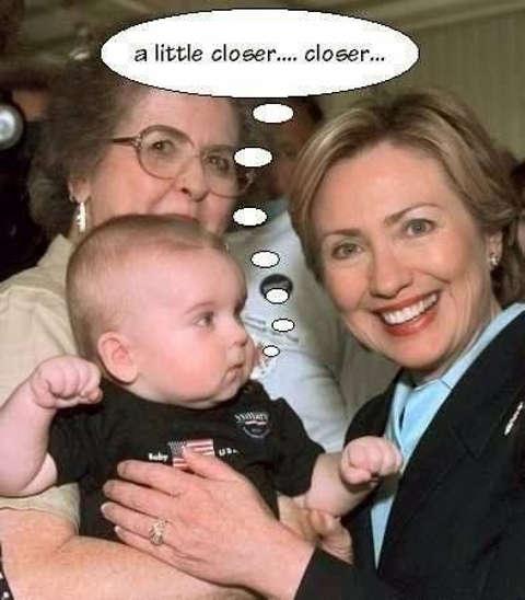 baby little closer punch hillary clinton