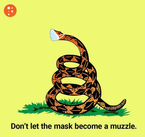 dont let mask become muzzle prager