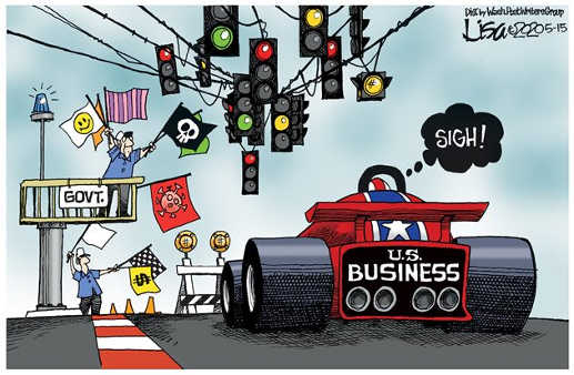 government giving stop go signs to us business