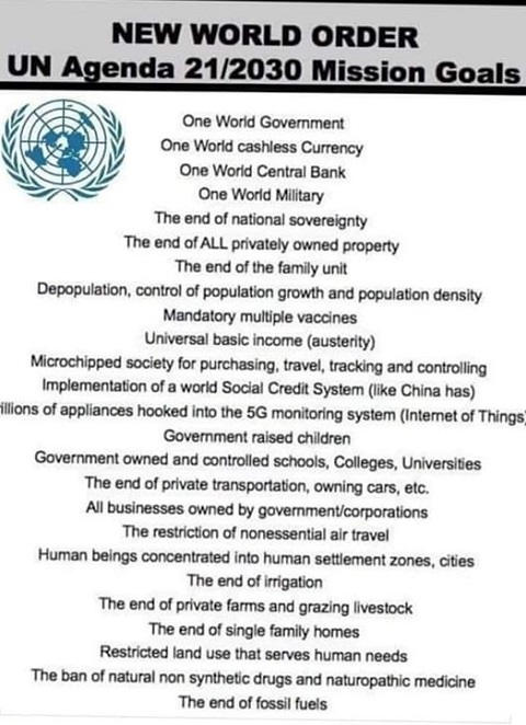 new world order un agenda 21 mission goals