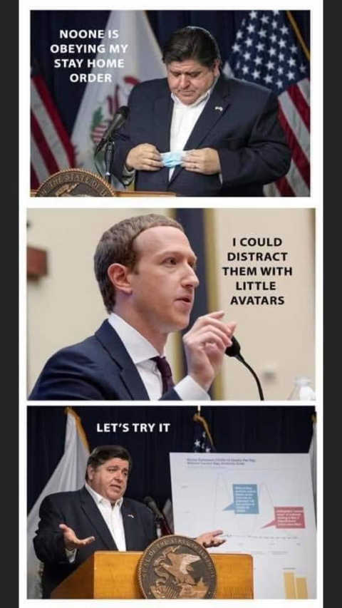 no one obeying stay at home orders zuckerberg facebook distract them with little avatars