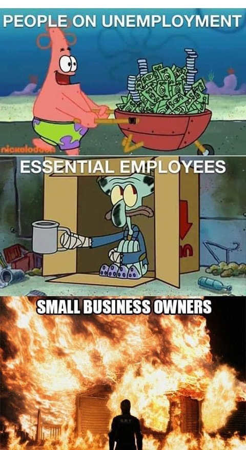 people on unemployment essential employees small business owners fire