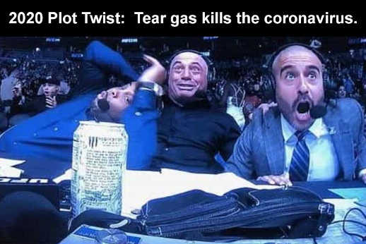 2020 plot twist tear gas kills coronavirus