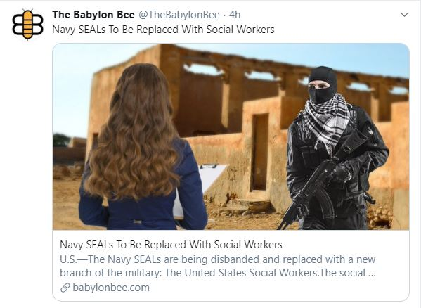 babylon bee navy seals to replaced with social workers