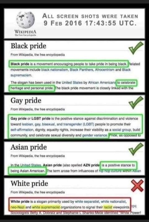 black gay asian white pride comparison wikipedia