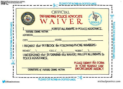 defund the police waiver