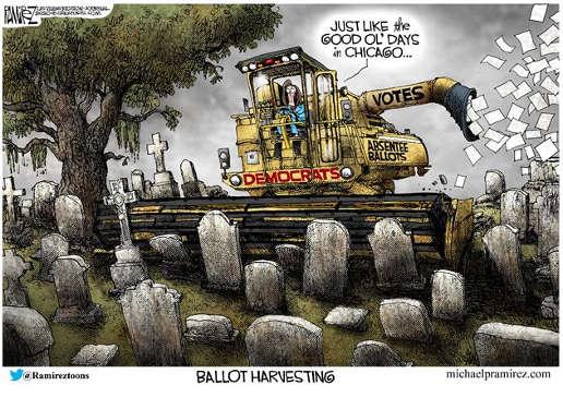democrats harvesting ballots absentee dead people