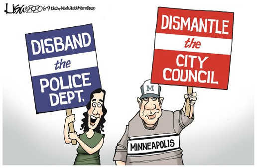 disband police department people city council sign