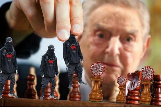 george soros chess pieces antifa coronavirus