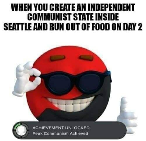 independent communist state seattle run out of food on day 2 congratulations