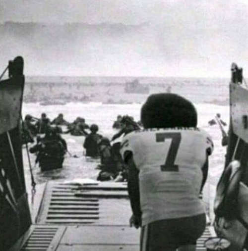 kaepernick kneeling dday while soldiers fight