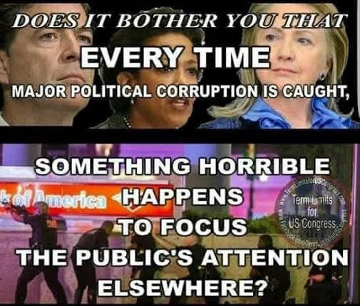 question bother you every time major political corruption caught something happens to focus attention elsewhere
