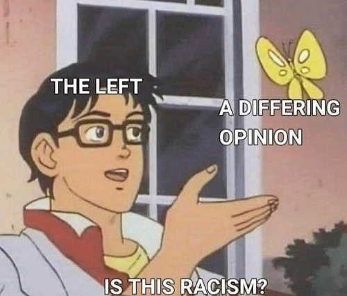 the left differing opinion is this racism butterfly