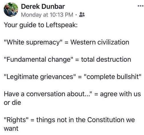 tweet guide to leftspeak dunbar white supremacy fundamental change rights