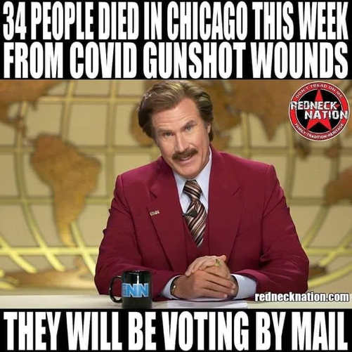 34 people died chicago this week from covid gunshot wounds will be voting by mail