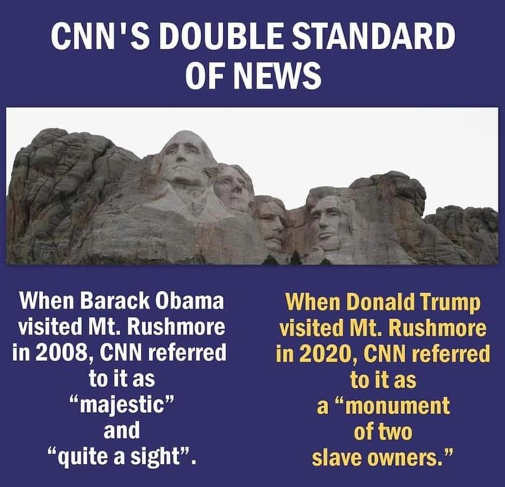 cnn double standards obama trump mount rushmore visits