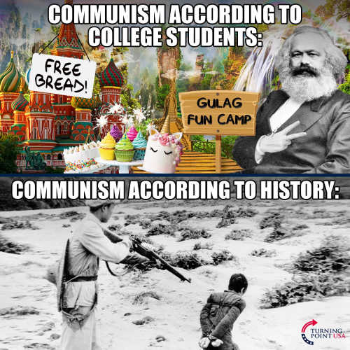 communism according to college students free bread fun gulah camp compared to history