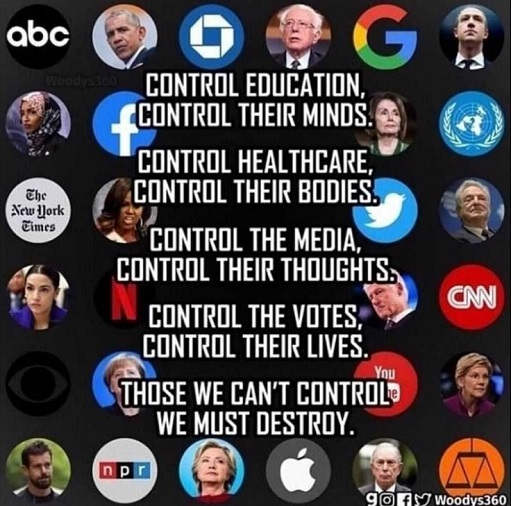 control education minds health care bodies votes media thoughts others destroy hillary obama pelosi democrats