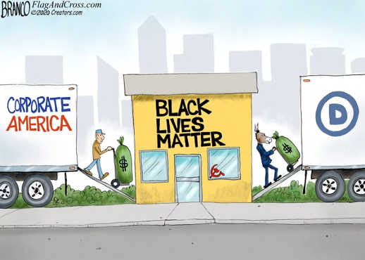 corporate america donating to black lives matter soviets transferring cash directly to democrats
