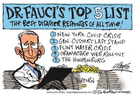 dr faucis top 5 best disaster responses new york covid custer flint water obamacare website hindenburg