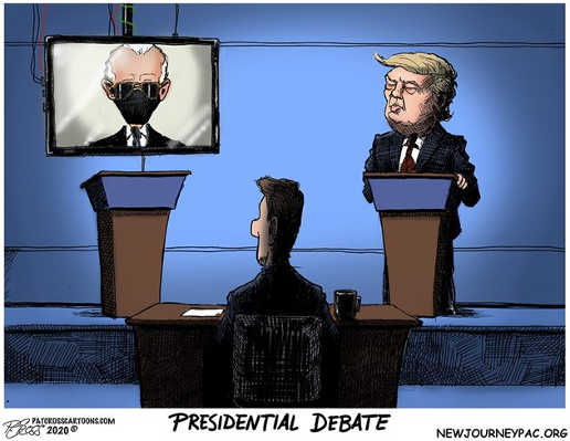 presidential debate joe biden mask tv trump in person