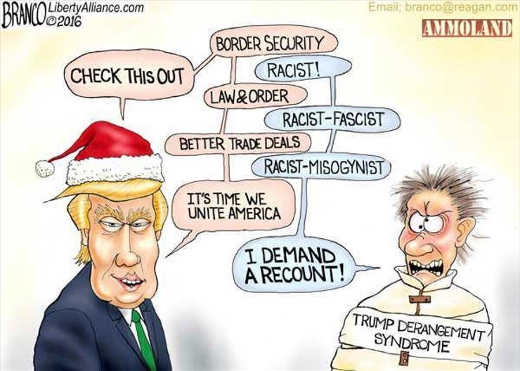 trump derangement sydrome tds racist sexist mental patient