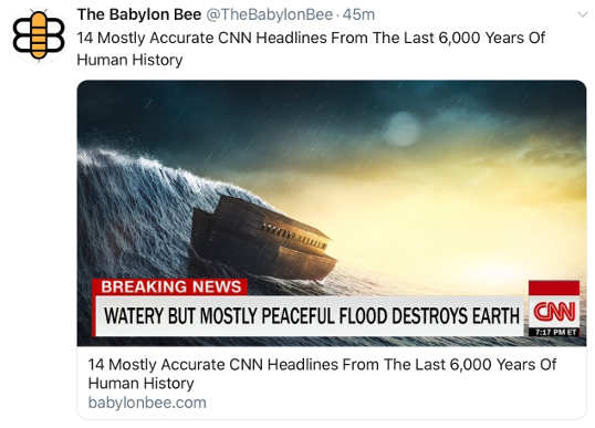 babylon bee 14 most accurate cnn headlines human history