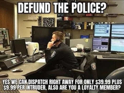 defund the police dispatch 39.95 intruder membership