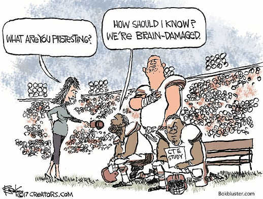 football players how would i know what im protesting cte concussion