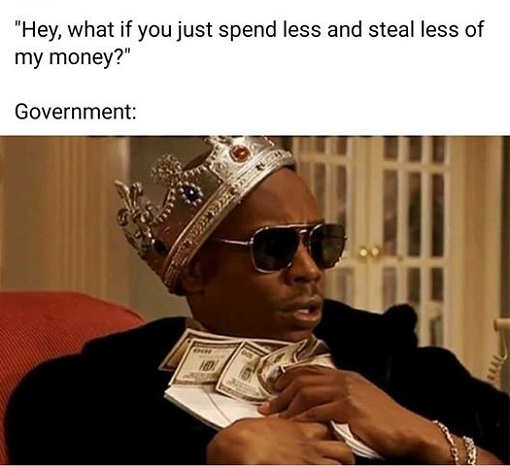 hey what if you spend less steal less of our money government holding cash