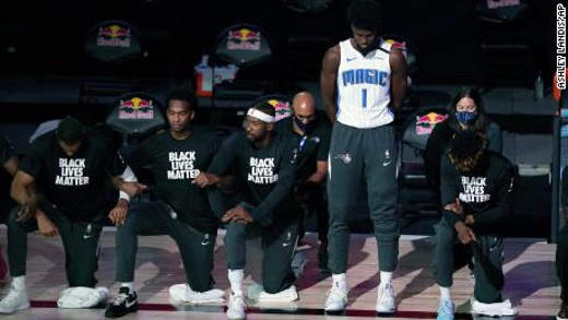 jonathan isaac only nba player to stand for the anthem