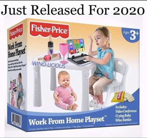 just released 2020 fisher price work from home playset