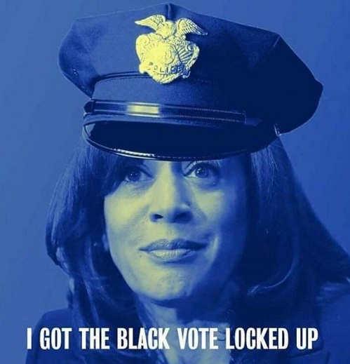kamala harris cop i got the black vote locked up