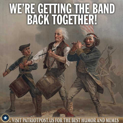 message were getting the band back together patriots drummers