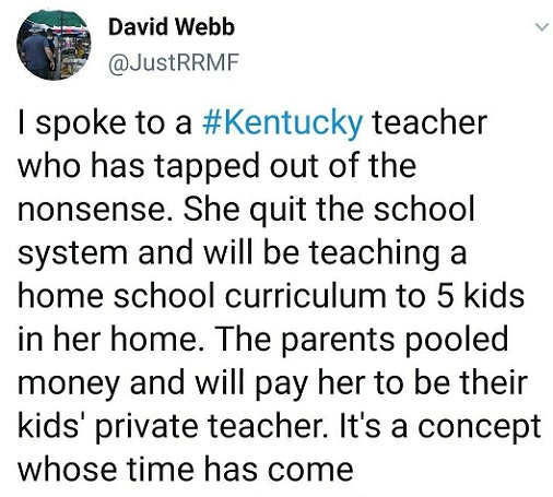 tweet david webb kentucky school teacher private teacher for kids